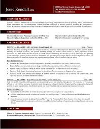 financial planner resumefree resume templates