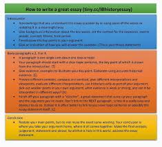 essay writing teac blog how to write a great history essay by ms vw