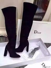 Черные ботфорты - <b>сапоги Christian Dior</b> (Диор) купить высоко ...