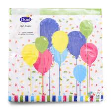 <b>Салфетки</b> бумажные <b>Duni</b> трёхслойные 33х33 <b>Balloons and</b> ...