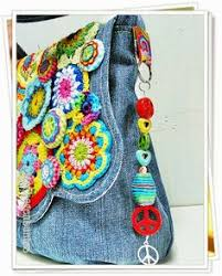 Image result for crochet jean purses