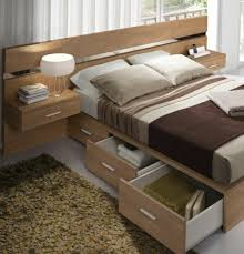 bedroom design wood bed compartments storage natural materials bed designs wooden bed