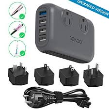 Sokoo Power Converter 220V to 110V, International ... - Amazon.com