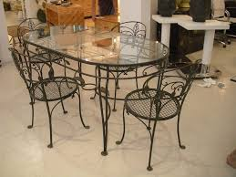 wrought iron glass top dining table black glass table top wrought iron black wrought iron table