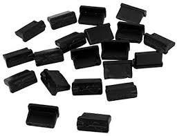 <b>uxcell</b> 20 Pcs Black Rubber USB A Type Female Anti Dust Plugs ...