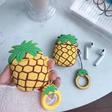Silicone Earphone Case for AirPods <b>Pineapple Headset Cover</b> Bag ...