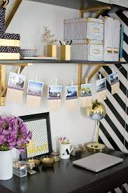 chic golden and black home office decor chic home office decor