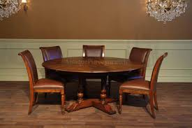 Round Dining Room Tables For 8 Round Dining Table With Hidden Leaves Solid Walnut Reclaimed