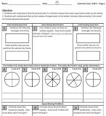 Common Core: 3.NF.1 and 3.NF.2 – Understanding Fractions - Mrs ...Common Core Fractions: 3.NF.1 - practice sheets