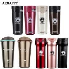 Steel Thermos Cup <b>Coffee Mug 350ml</b> For <b>Car</b> Travel Thermal Fask ...