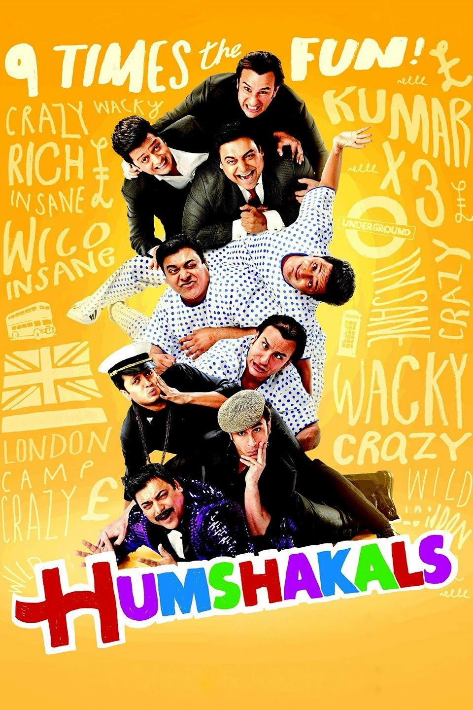 Humshakals (2014) Hindi 720p BluRay 1.2GB ESubs