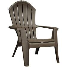 bar height patio chair: adams mfg corp earth brown resin stackable patio adirondack chair
