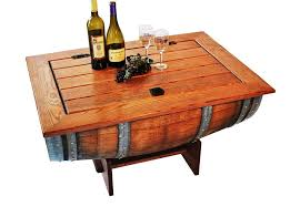 image of wine barrel furniture coffee table arched napa valley wine barrel table