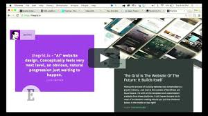 the grid ai website builder demo on vimeo