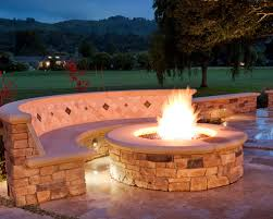 patio fire pit bench ideas