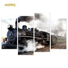 <b>4pcs 5D DIY</b> Full Drill <b>Diamond</b> Painting Train Cross Stitch ...