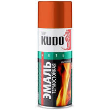 Краска <b>термостойкая KUDO</b>, красно-коричневый, матовый ...