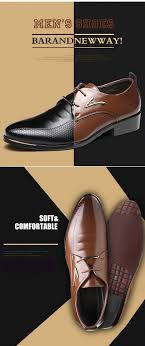 <b>Mens</b> Dress Shoes Fashion <b>Pointed Toe Lace</b> Up <b>Men's</b> Business ...