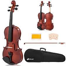 Sonart <b>Full Size 4/4</b> Solid Wood Violin for Beginners, <b>Acoustic</b> ...