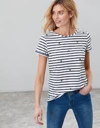 Nessa <b>print SUMMER</b> BEE Lightweight Jersey <b>T</b>-<b>Shirt</b>   Joules UK