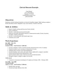 clerical resume at home s clerical lewesmr sample resume resume skills wpm secretary exle cover