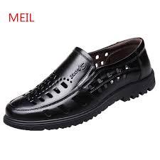Summer Breathable Italian <b>Men</b> Dress <b>Shoes Formal Genuine</b> ...