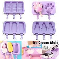 <b>Silicone Ice</b> Cream Mold Reusable <b>DIY Ice</b> Cubes Maker Tool With ...