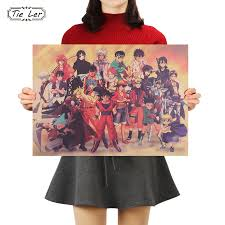 <b>TIE LER Japanese Anime</b> Character Collection Poster Classic ...