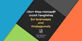 microsoft word templates for businesses and 280 microsoft word templates for businesses and professionals new horizons abudhabi pulse linkedin