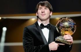 Lionel Messi élu Ballon dOR 2012