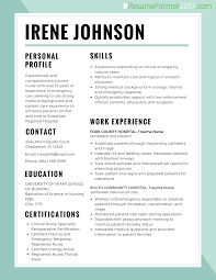 resume best format for nurses resume format  resume format for nurses example