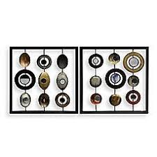 mirror wall decor circle panel: metal circle and square   metal circle and square