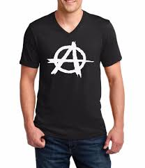 V-neck Men <b>Anarchy</b> T <b>Shirt</b> Reject Hierarchy <b>Freedom</b> Tee ...