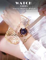 KOVONSH Starry <b>Women Watches Magnetic</b> Mesh Belt Band <b>Lady</b> ...