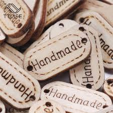 <b>TTLIFE 100Pcs</b> Natural Wood Handmade Tag Label Crafts ...