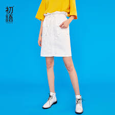 <b>Toyouth 2019 Women Spring</b> Skirt Casual Solid Color High Waist ...