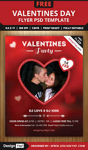 psd valentines party flyer template designyep psd valentines party flyer template