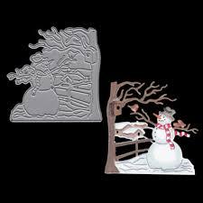7.3x7.4cm Snowman Cutting Dies <b>Scrapbooking New Arrivals</b>...