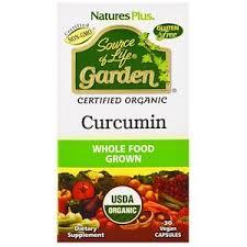 Nature's Plus, <b>Source of Life Garden</b>, Curcumin, 30 Vegan Capsules ...