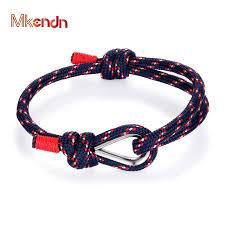 MKENDN High Quality Anchor <b>Bracelets Men Women Charm</b> ...