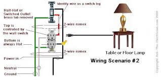 how to wire a switched outlet wiring diagrams switched outlet wiring diagram 2 power source enters at the outlet