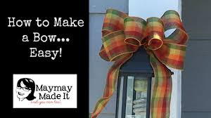 You Can Make Beautiful Bows EASY - YouTube