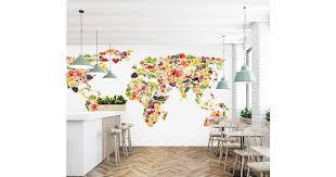 <b>3D Color Painting</b> 2121 World Map Wall Murals Wallpaper Murals ...