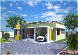 House plan of a small modern villa   Kerala home design and floor    Modern Kerala villa  See floor plan