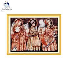 <b>Joy Sunday</b> Christmas Eve Angels Printed Counted Cross Stitch ...