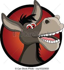 Vector illustration of <b>funny donkey head</b> cartoon. | Illustration ...