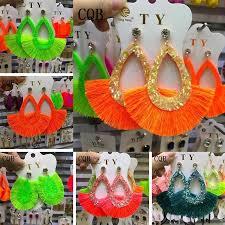 <b>Fashion</b> jewelry <b>fringe</b> earrings yellow <b>fashion tassel</b> sequins ladies ...