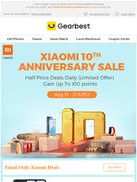 Gearbest IT: [Free Redmi 9A] Xiaomi 10th Anniversary Sale Starts ...