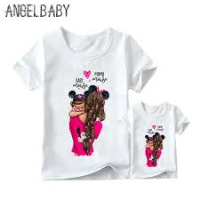 <b>Matching Family Outfits Super</b> Mom and Daughter Print Boys Girls T ...