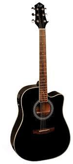 Электроакустическая <b>гитара Flight AD</b>-<b>200</b> CEQ BK — купить по ...